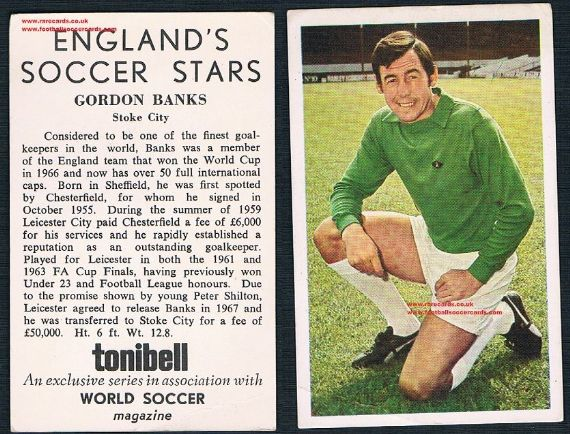 1970 Tonibel Stoke City Gordon Banks